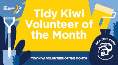 Congratulations to our Tidy Kiwi Volunteer of the Month for March, Wei Zhang!