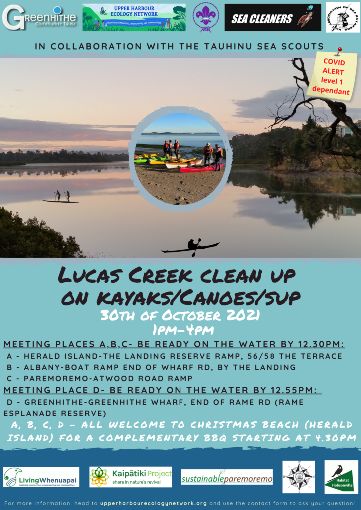 Lucas Creek Clean Up event *COVID-19 Level 1 dependent